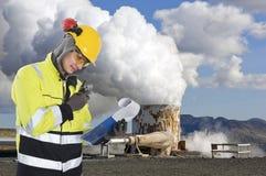 Ingegneria geotermica Fotografia Stock Libera da Diritti