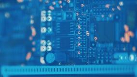 Ingegneria informatica del microcontroller della disposizione del PWB stock footage