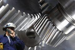 Ingegneria, macchinario ed acciaio Immagini Stock