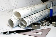 Ingegneria meccanica e disegno Fotografia Stock