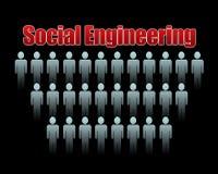 Ingegneria sociale Fotografia Stock