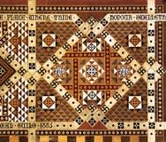Ingelegd marmeren muurschildering/mozaïek Royalty-vrije Stock Foto's