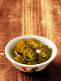 Ingelegde groene Spaanse pepers Royalty-vrije Stock Foto