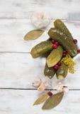 Ingelegde komkommers met Amerikaanse veenbessen Royalty-vrije Stock Afbeelding
