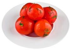 Ingelegde tomaten Royalty-vrije Stock Foto's