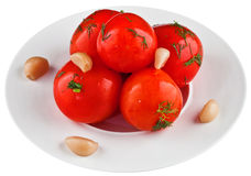 Ingelegde tomaten Stock Afbeeldingen