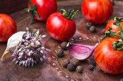 Ingelegde tomaten in de herfst Royalty-vrije Stock Afbeeldingen