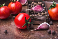 Ingelegde tomaten in de herfst Royalty-vrije Stock Foto