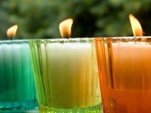 Ingemaakte kaarsen Stock Foto's