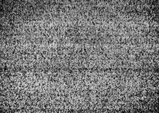 Ingen anslutning Autentisk statisk elektricitet på en TVskärm med svart & vit omvandling royaltyfri foto