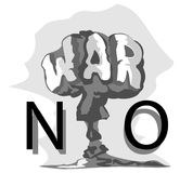Ingen atom- champinjon för krig abstrakt illustration Royaltyfri Fotografi