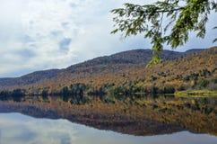 Ingen Autumn Adirondack Lake Water Reflections 13 Arkivbild