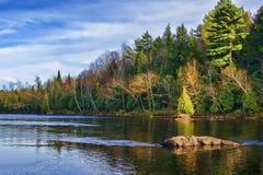 Ingen Autumn Adirondack Lake Water Reflections 13 Royaltyfria Bilder
