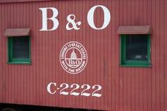 Ingen b-nolla Baltimore Ohio för Caboose C-2222 järnväg Arkivbild