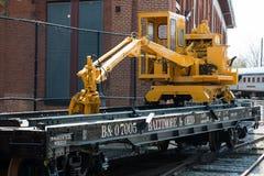 Ingen b-nolla Bil för järnväg för 7005 Baltimore Ohio plan Fotografering för Bildbyråer