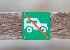 Ingen bil eller inget parkeringstecken Fotografering för Bildbyråer