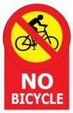 Ingen cykelteckenetikett Arkivbilder