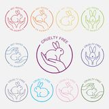 Ingen design för symbol för djurprovning Royaltyfria Bilder