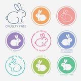 Ingen design för symbol för djurprovning Fotografering för Bildbyråer