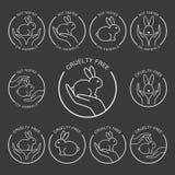 Ingen design för symbol för djurprovning stock illustrationer