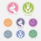 Ingen design för symbol för djurprovning royaltyfri illustrationer