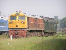 Ingen diesel- lokomotiv för Ge 4552 arbeta i Chiangmai stationsgård Royaltyfri Bild