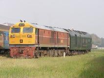 Ingen diesel- lokomotiv för Ge 4552 arbeta i Chiangmai stationsgård Royaltyfri Fotografi
