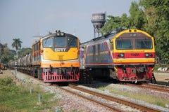 Ingen diesel- lokomotiv för Ge inga 4007 och Hitachi 4519 Arkivfoton