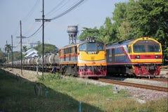 Ingen diesel- lokomotiv för Ge inga 4007 och Hitachi 4519 Arkivbilder