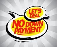 Ingen down - betalning Arkivbild