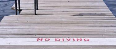 Ingen dykning undertecknar Royaltyfri Bild