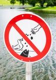 Ingen fågelmatning Royaltyfri Fotografi