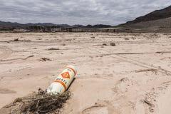 Ingen fartygboj - skadad marina för torka på sjömjödet Royaltyfria Foton