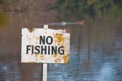 Ingen Fishingsign. Arkivfoton