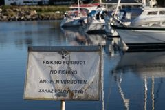 Ingen fisking stock image