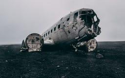 Ingen folknivåhaveri i Island på en dimmig dag utan folk Arkivfoto