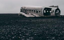 Ingen folknivåhaveri i Island på en dimmig dag utan folk Royaltyfri Foto