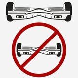 Ingen Gyroscooter, gyroskopbräde, elektrisk sparkcykel royaltyfri illustrationer