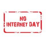 Ingen internetdag Arkivbilder