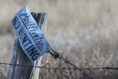 Ingen jakt undertecknar Arkivbilder