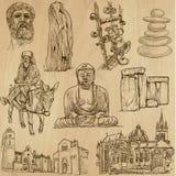 Ingen klosterbroder 4 - Vektorpacke, handteckningar vektor illustrationer