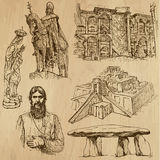 Ingen klosterbroder 6 - Vektorpacke, handteckningar royaltyfri illustrationer