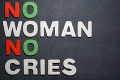 Ingen kvinna inga skrik royaltyfria foton