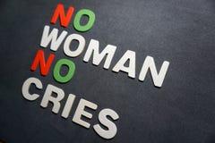 Ingen kvinna inga skrik fotografering för bildbyråer