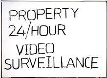 Ingen lockbortgångegenskap under video bevakning royaltyfri foto