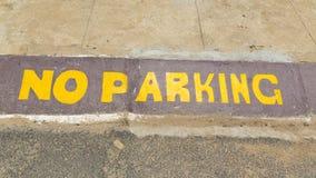 Ingen målad asfalt för parkering Fotografering för Bildbyråer