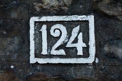 Ingen 124 målarfärgväggvit Fotografering för Bildbyråer