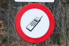 Ingen mobil ringer undertecknar Arkivbild