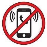 Ingen mobiltelefonlinje symbol Arkivfoto