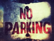 ingen parkering royaltyfri fotografi